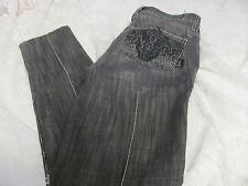 ANTIK DENIM SKINNY WPB21602 Gray Black Embellished 24 Ankle