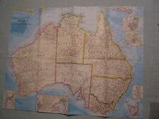 VINTAGE AUSTRALIA MAP National Geographic September 1963 MINT