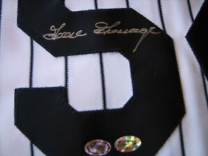 RICH GOOSE GOSSAGE East Coast Show Signed Yanks Baseball Jersey -Show Holo Auth.
