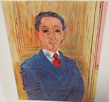 "RAOUL DUFY ""PORTRAIT OF M. NICO MAZARAKI"" COLOR OFFSET LITHOGRAPH"