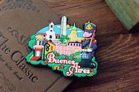 Argentina Buenos Aires Souvenir Travel Gift 3D Rubber Funny Fridge Magnet Cute
