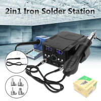 3 IN 1 LCD Soldering Iron Desoldering Rework Solder Station Hot Air   New  @