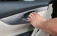 Chrome Interior Inner Door Handle Cover Trim For 2014-2017 Nissan Rogue Xtrail