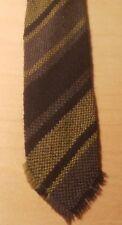 Vtg 50s Handwoven Woolen Skinny Neck Tie/Milt Levin 35 E. 8th St/Greenwich Vill.