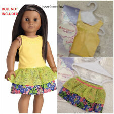 American Girl TIERED TROPICAL SKIRT~SUNSHINE TANK TOP Outfit Lea 2 PC Mix Match
