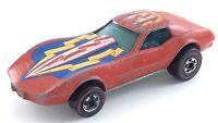 Vintage 1975 Corvette Stingray Hot Wheels Redline Red Line Mattel Hong Kong T454