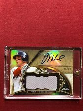 WILL MIDDLEBROOKS 2013 TOPPS TRIPLE THREADS GAME USED JERSEY AUTO #/99 BOSTON