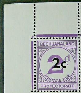 BECHUANALAND 1961 SG D8 2c. SURCHARGE ON 2d. POSTAGE DUE - VIOLET  -  MNH