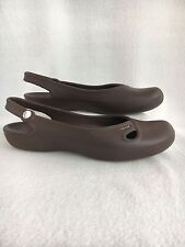 Crocs Women's Size 11 Brown Slingback Ballet Flats Shoes