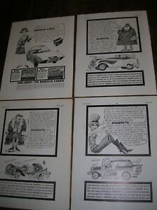 4 x 1960s Dagenite Battery adverts  Superb cartoon artwork   Very Collectable