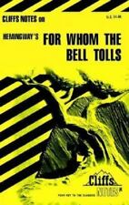 For Whom the Bell Tolls by Ernest Hemingway, Cliffs Notes (1967, Paperback)