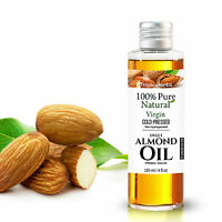 100% PURE SWEET ALMOND OIL COLD PRESSED CARRIER OIL VIRGIN UNREFINED REFINED