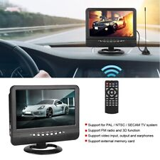 9.5 inch Wide Viewing Angle Portable TV Analog Mobile DVD Television Player US