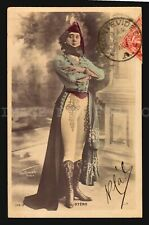 OTERO Boots costume photomontage actress opera  vintage original postcard RPPC