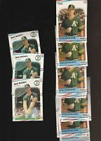 1988 Fleer Mark McGwire A's Baseball 16 Card Lot