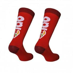 Cinelli 'Ciao' Cycling Socks in Red - Made Italy
