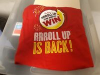 Tim Horton's Roll Up the Rim T-Shirt - Medium Size Crew Neck. Millions Prizes.