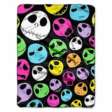 PLUSH blanket throw SOFT New Jack Skellington Nightmare Before Christmas Color