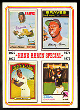 1974 TOPPS OPC O PEE CHEE BASEBALL #9 HANK AARON SPECIAL EX+ 1970-1973 BRAVES