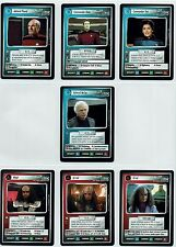 STAR TREK CCG 2 PLAYER GAME, SET OF 7 EXCLUSIVE PROMO CARDS