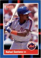1988 Rafael Santana Donruss Baseball Card #633