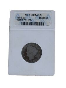 1885 5C Liberty Head V Nickel Coin