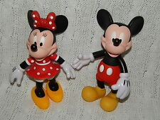 "Disney Parks – Lot of 2 Mickey Mouse/Minnie Mouse 8"" Collectible Figurines #S514"