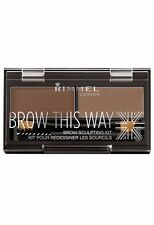 """RIMMEL ~ BROW THIS WAY SCULPTING KIT ~ """"#002 MED BROWN"""" ~ NEW/SEALED ~ RRP$12.95"""