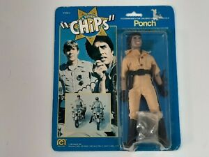 Rare Vintage 1977 Mego Chips TV Series Action Figure - Ponch - MOSC