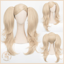 Persona 5 Ann Anne Takamaki Shujin Flaxen 2 Ponytails Long Wavy Cosplay Full Wig