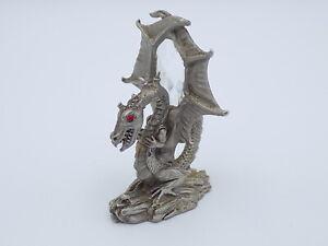 Vintage Spoontiques Pewter Dragon with Gem - D&D LOTR MR890