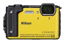 Nikon COOLPIX W300 YW Yellow Waterproof Digital Camera From Japan F/S USED