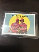 Topps Heritage Halo Heroes Shohei Ohtani And Mike Trout Base Insert 2018