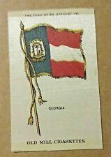 1910 Old Mill Cigarettes Tobacco Silk Premium Us State Georgia Flag rich colors