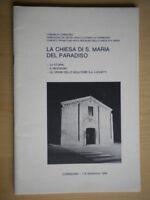 La chiesa di S. Maria del paradisoCorridoniastoria arte scultura Marche Molini