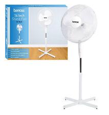 Floor Standing Pedestal Fan 16 Inch Oscillating Electric 3 Speed White