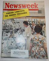 Newsweek Magazine Key To The Economy July 1962 100316R2
