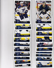 16/17 OPC St. Louis Blues Base Card Team Set with Checklist - Allen Stastny +