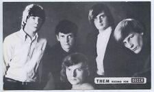 "1960'S MUSIC SHOP PROMO CARD ""THEM"" DECCA RECORDS ADELAIDE RADIO RENTALS L638"
