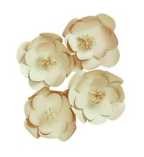 Darice Natural Paper Flower Wall Decor Kit: Assorted Sizes, 84 pieces