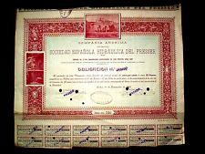 Sociedad Española Hidraulica del Fresser,Bond, Spain 1906
