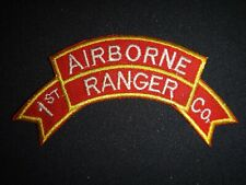 Korea War (1950-53) Scroll Patch 1st Airborne Ranger Infantry Company