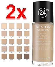 2x Revlon Colorstay Makeup Combination/Oily 110 Ivory Foundation Softflex 24HR