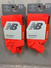 2 PAIRS New Balance Lightweight Construction Running TAB Socks  MADE IN USA