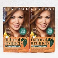 Clairol Natural Instincts 7A (Former 10 Sandalwood) Dark Cool Blonde 2 Packs Lot