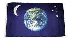3x5 Earth Moon & Stars Premium Quality Fade Resistant Flag 3'x5' Banner Grommets