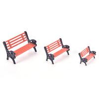 Mini Garden Miniature Park Seat Bench Ornament Craft DIY Fairy Dollhouse Dec wr