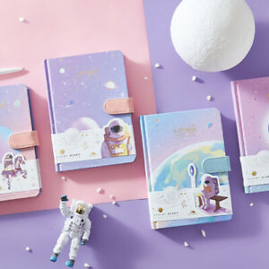 """""""Back to Moon"""" 1pc Hard Cover Cute Journal White Papers Astronaut Universe Diary"""