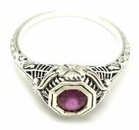 Rubin  Ring   925 Sterling Silber   ANTIK STYLE  verschiedene Größen
