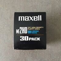 "Maxell 30 Pack MF 2HD 3.5"" High Density Floppy Disks IBM Formatted OPEN BOX"